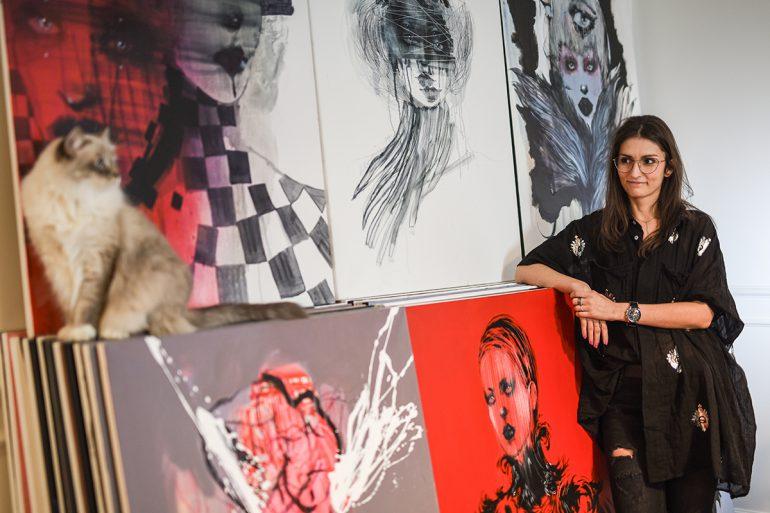 pracownia polskiej ilustratorki modowej