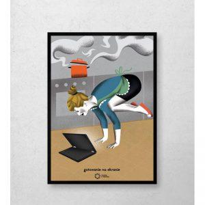 Wyprzedaż Fu-Ku- plakat domieszkania Sunday is Monday.