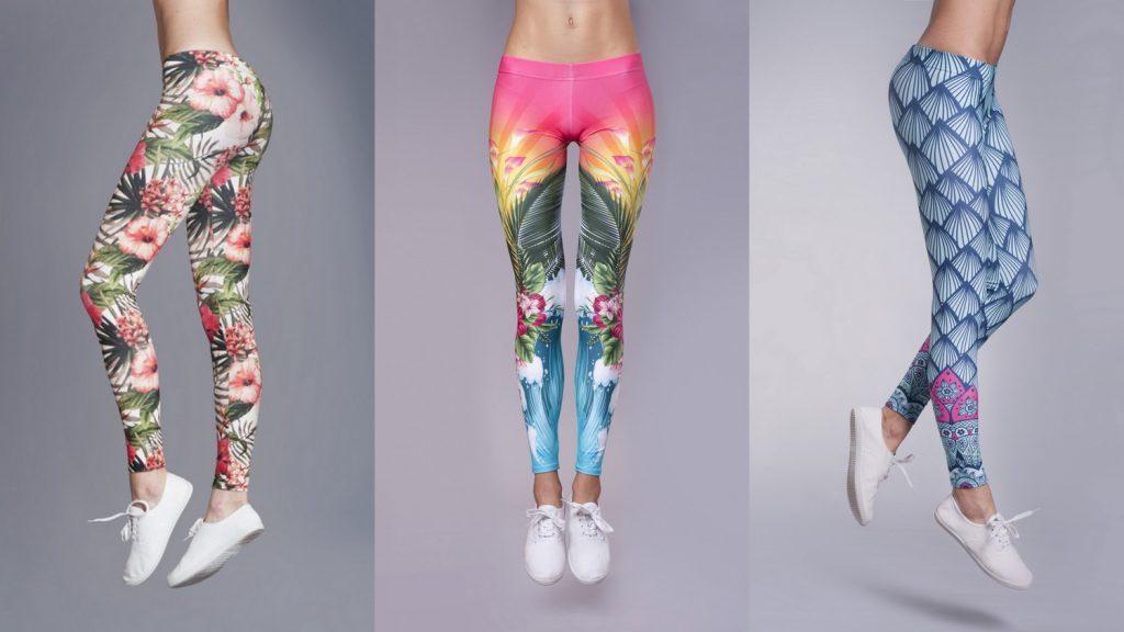 Sportowy weekend wFu-Ku należy dokolorowych legginsów marki DEEP TRIP.