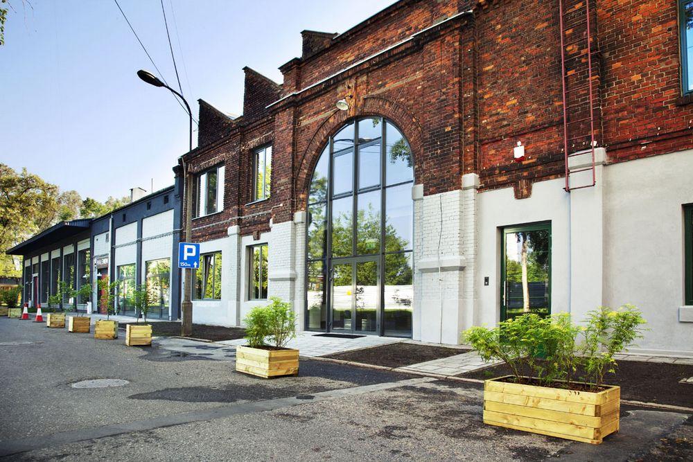 Slow Warszawa iSoho Factory. Fasada budynku.