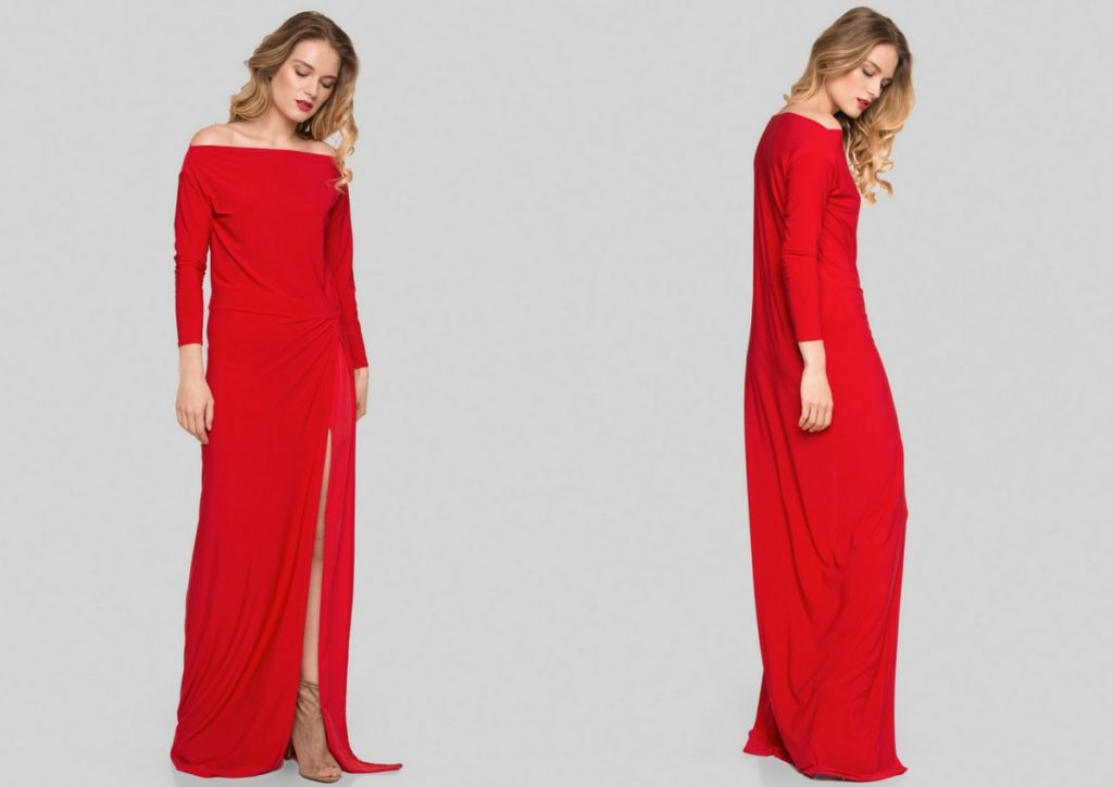 Minimalistyczna suknia nawesele