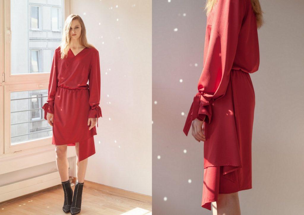 Czerwona sukienka nawesele