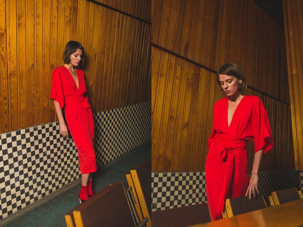 Minimalistyczna sukienka nawesele