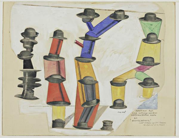 Max Ernst, Kapelusz czyni człowieka, 1920, fot.wikipedia.org