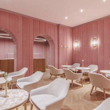 Kawiarnie i restauracje w kolorze Millennial Pink