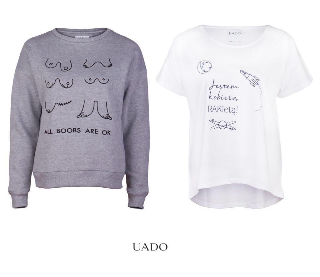polskie marki feministyczne uado bluzy it-shirty feministyczne